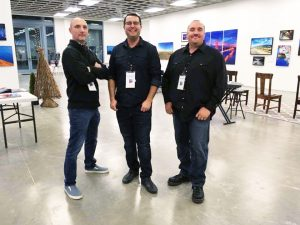 Jason Jones, J Scott Walker, and Jeremy Enlow at the Sundance Square pop up gallery